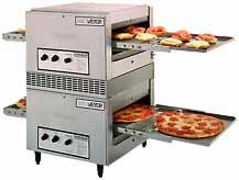 Horno pizzero con cinta transportadora